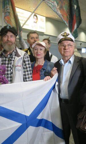 Встреча ветеранов КЧФ с Ф.Конюховым